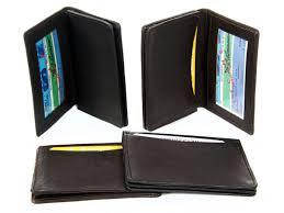 leather credit card u0026 id holder slim design black men u0027s wallet ebay