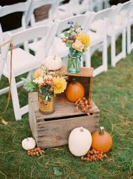 Fall Wedding Decor With A Rustic Twist And Pumkins