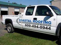 Coastal Roofing Truck Lettering - Coastal Sign & Design, LLC
