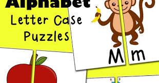 Free Alphabet Letter Case Puzzles