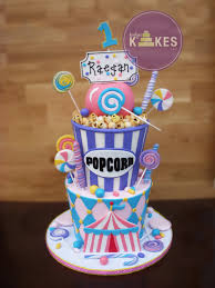 Cakes Decorated With Candy by Carnival Kake Both Cakes Are Iced In Buttercream And Decorated
