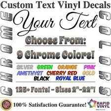 Chrome Custom Vinyl Lettering Text Decal Car Truck Boat RV Trailer