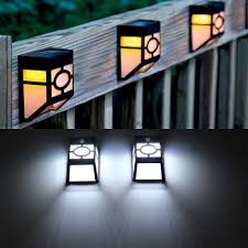 ip55 2leds solar powered wall mount lantern led solar light