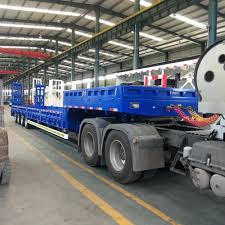 100 Truck Bed Trailers 4 Axles 60tons Low Semi Trailer With Extension Buy 4 Axles Low