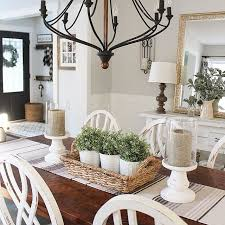 Rustic Dining Table Decor Best 25 Farmhouse Centerpieces Ideas Wooden Decoration In