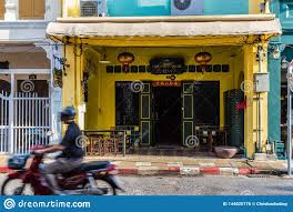 100 Houses In Phuket Traditional Chinese Shophouses Town Thailand