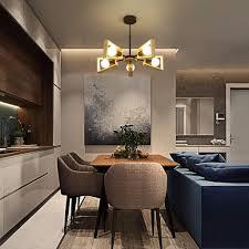 deckenleuchte holz vintage wohnzimmerle e27 φ65cm deckenle 5 flammig höhenverstellbare deckenbeleuchtung für wohnzimmer schlafzimmer