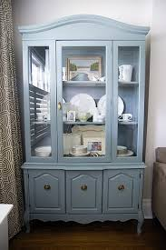 Rambling Renovators Living Room A Painted Hutch In Schoolhouse Slate By Martha Stewart Great Mid Tone Bluey Greeny Grey