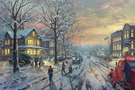 Thomas Kinkade Christmas Tree by Thomas Kinkade A Christmas Story World Wide Art