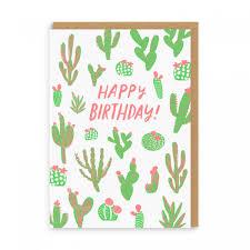 Cacti Happy Birthday Greeting Card Ohh Deer