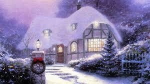 Thomas Kinkade Christmas Tree by Christmas Landscapes Christmas Village Square Hd Wallpaper