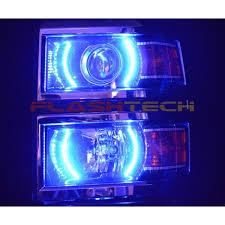chevrolet silverado v 3 fusion color change halo projector