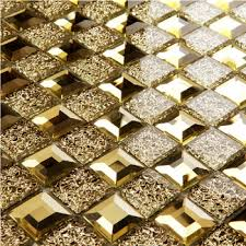 Mirror Tiles 12x12 Gold by Buy Mirror Tile Gold Edge Polished Glass Kitchen Tiles Backsplash