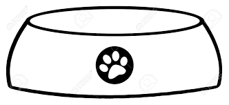 Outlined Empty Dog Bowl Stock Vector