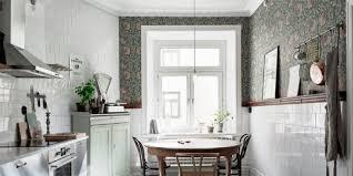papier peint cuisine gris le papier peint dans la cuisine l atout déco