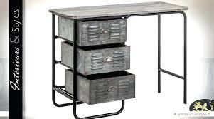 bureau industriel metal bureau style industriel en metal et bois bureau style industriel