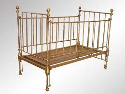 antique brass baby crib e n f a n t d h i e r