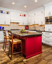 Detroit Home Depot Garage Cabinets With Contemporary Microwave Ovens Kitchen Transitional And Red Accent Color Shaker
