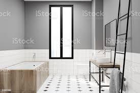 modernes grau badezimmer dekoidee stockfoto und mehr bilder architektur