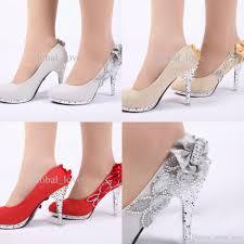 ladies christmas high heels shoes for women platform wedding shoes