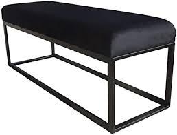 damiware couchy sitzhocker sitzbank esszimmer küche wohnzimmer samt stoffbezug und metallbeine 121 x 39 x 44 5 cm samt schwarz