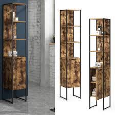 vicco badschrank fyrk vintage badezimmerschrank hochschrank badregal 5 fächer