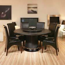 Image Of Black Rustic Round Dining Table