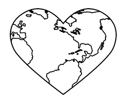 Bring Love And Peace On Earth Day Coloring Sheet Page