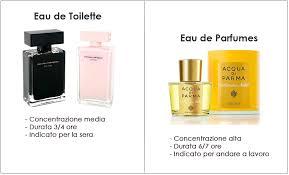 la differenza tra eau de parfume e eau de toilette