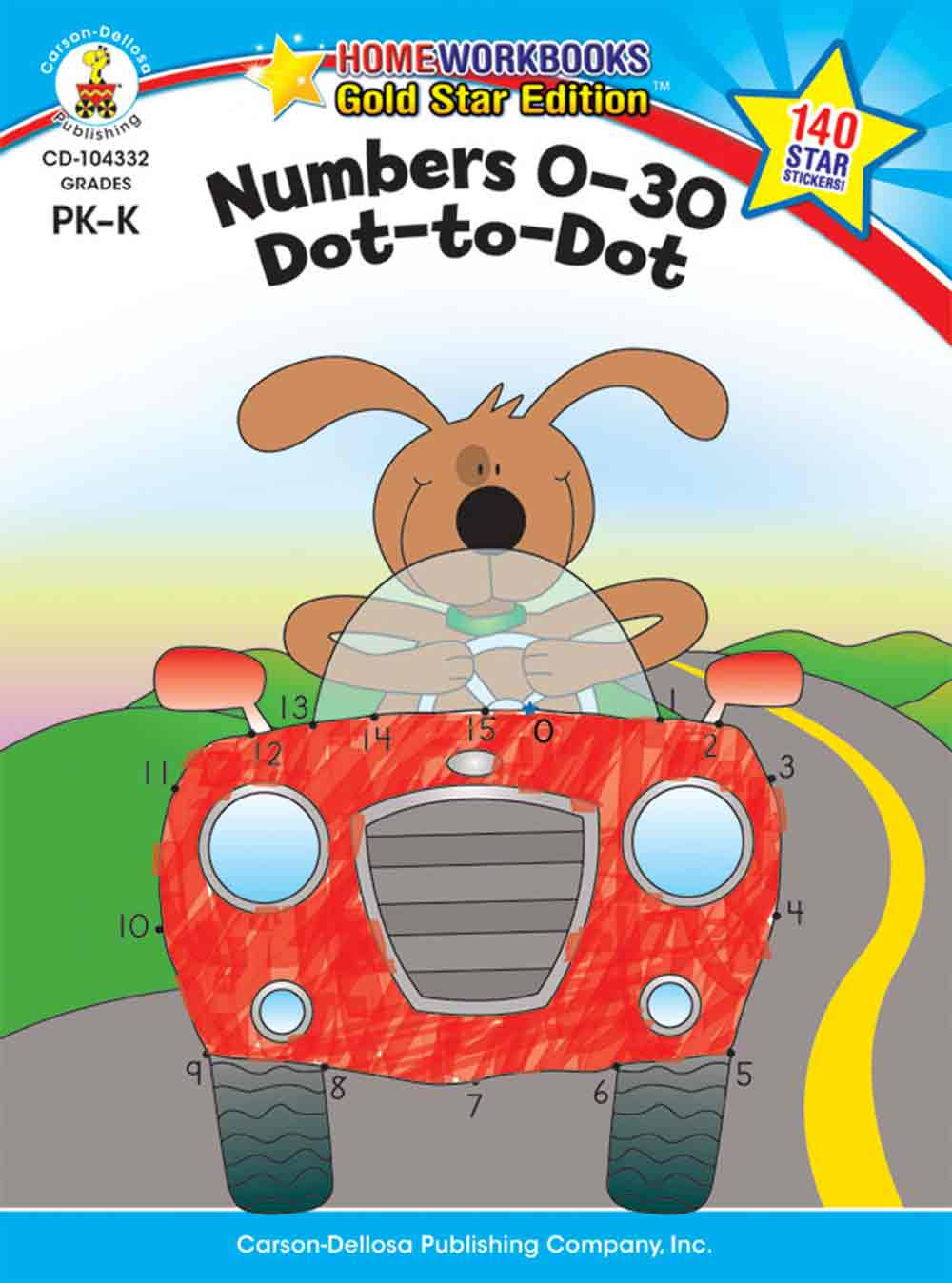 Numbers 0-30: Dot-to-Dot, Grades PK-K: Gold Star Edition - Carson-Dellosa Publishing