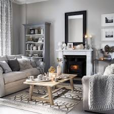 Neutral Living Room Grey Colour Palette