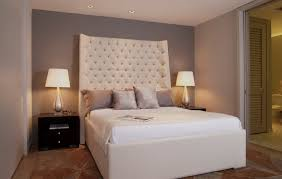 Extra High Headboard With Exquisite Queen Size Bed For Small Bedroom Ideas Grey Accent Wall