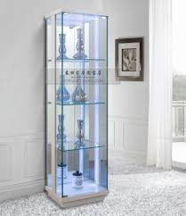 cabinet lights stunning glass display cabinet with lights glass