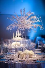 White Silver & Blue Winter Wonderland Wedding at A La Carte