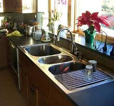 three basin kitchen sink bowl sinks simple awesome three