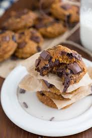 Easy Pumpkin Chocolate Chip Scones by Flourless U0026 Healthy Pumpkin Chocolate Chip Cookies Chelsea U0027s