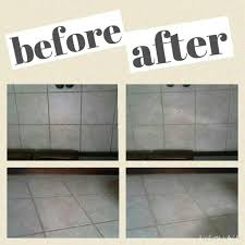 cleaning tile grout with hydrogen peroxide baking soda and a