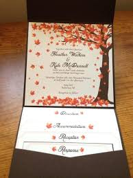 Fall Wedding Invites As Well Falling Leaves Invitation Autumn Kits Cheap