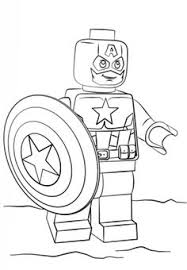 Lego Captain America Coloring Page From Super Heroes Category Select 25266 Printable Crafts
