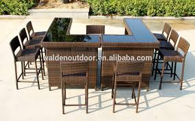 Home Bar Furniture Outdoor Bar Table Seaside Wicker Bar Stool