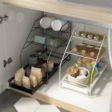 einfache 3 tier unter waschbecken schrank organizer mit