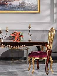 casa padrino barock esszimmer stuhl set lila gold 59 x 61 x h 116 cm prunkvolles küchen stühle 6er set barock esszimmer möbel