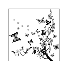 Butterfly Flower Pattern DIY Home Bedroom Decal Wall Decor Sticker