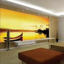 Custom Large Murals Dusk Scenery For Living Room Wall Decor Self Adhesive Wallpaper 3d Wallpapers Mural