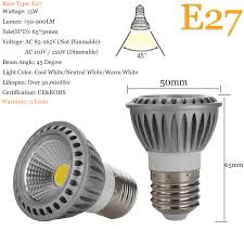 led spot light bulbs dimmable gu10 mr16 e26 e27 15w cob 110v 220v