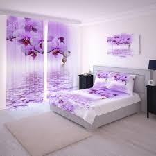 fotogardinen orchidee violet vorhänge gardinen nach maß vorhang motiv 3d bedruckt