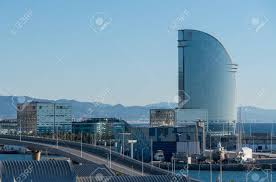 100 W Hotel In Barcelona Spain BARCELONA SPAIN MARCH 17 2018 On Aterfront