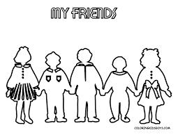 Download Coloring Pages Friends Best Friend Sheets