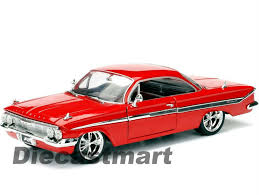 100 Fast And Furious Trucks Jada 1 24 8 1961 Chevy Coche De Metal Modelo Red