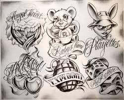 Gangsta Boog Tattoo Flash